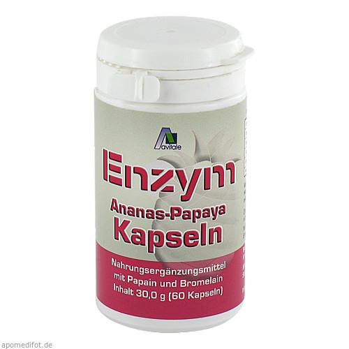 Enzym Ananas-Papaya Kapseln, 60 ST, Avitale GmbH
