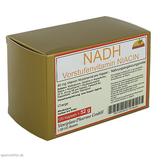 NADH Vorstufenvitamin, 120 ST, Vaniplan Pharma GmbH