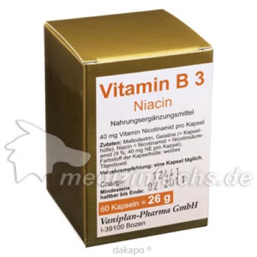 VITAMIN B3 Kapseln, 60 ST, Vaniplan Pharma GmbH