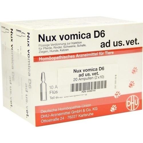 NUX VOMICA D 6 Ampullen vet., 2X10X5 ML, DHU-Arzneimittel GmbH & Co. KG
