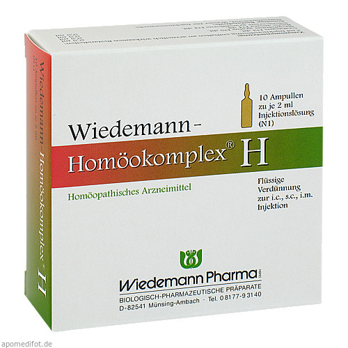 Wiedemann Homöokomplex H, 10X2 ML, Wiedemann Pharma GmbH