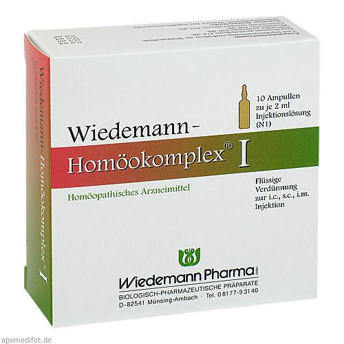Wiedemann Homöokomplex I, 10X2 ML, Wiedemann Pharma GmbH