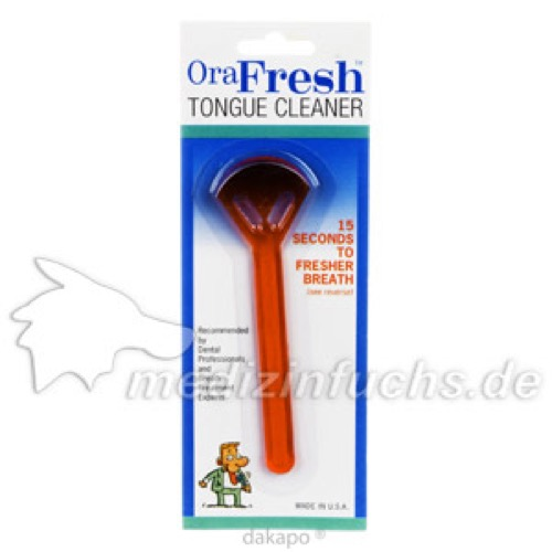 ORAFRESH Zungenreiniger Schaberform, 1 ST, Dent-O-Care Dentalvertriebs GmbH