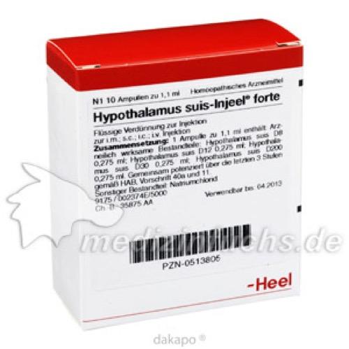 HYPOTHALAM SUIS INJ FO ORG, 10 ST, Biologische Heilmittel Heel GmbH