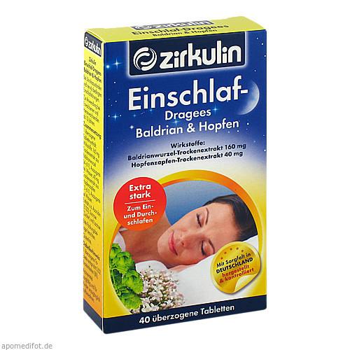 Zirkulin Einschlaf-Dragees Baldrian & Hopfen, 40 ST, Roha Arzneimittel GmbH