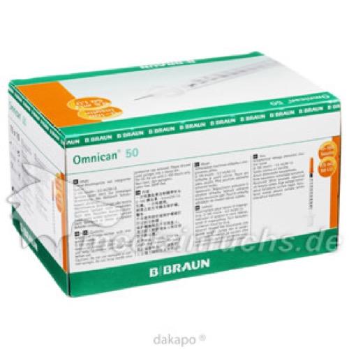 Omnican 50 0.5ml 0.30x8mm, 100 ST, B. Braun Melsungen AG