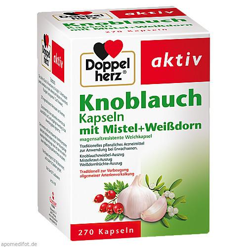 DOPPELHERZ KNOBLAUCH KAPSELN MIT MISTEL U.Weißdorn, 270 ST, Queisser Pharma GmbH & Co. KG
