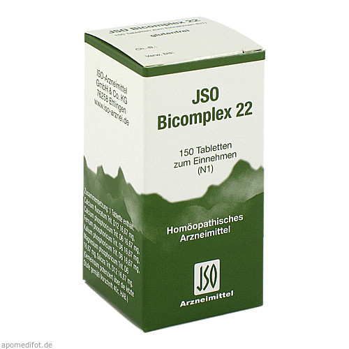 JSO BICOMPLEX HEILM NR 22, 150 ST, Iso-Arzneimittel GmbH & Co. KG