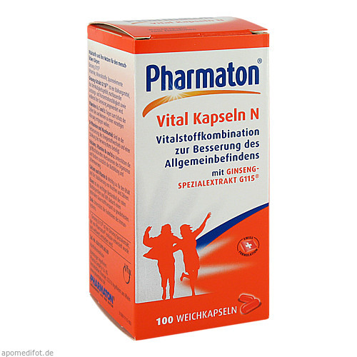 PHARMATON Vital Kapseln N, 100 ST, Sanofi-Aventis Deutschland GmbH GB Selbs
