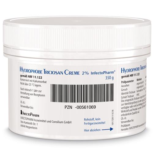 HYDROPHOBE Triclosan Creme 2% NRF 11.122 Infect., 350 G, INFECTOPHARM Arzn.u.Consilium GmbH