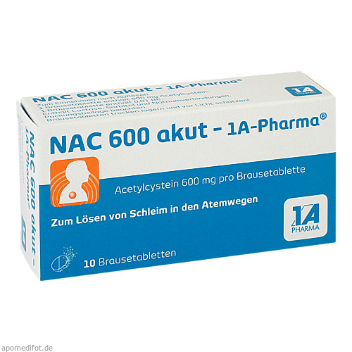 NAC 600 akut-1A-PHARMA, 10 ST, 1 A Pharma GmbH