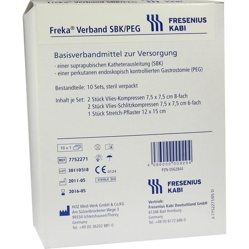Freka Verband SBK/PEG, 10X1 ST, Fresenius Kabi Deutschland GmbH