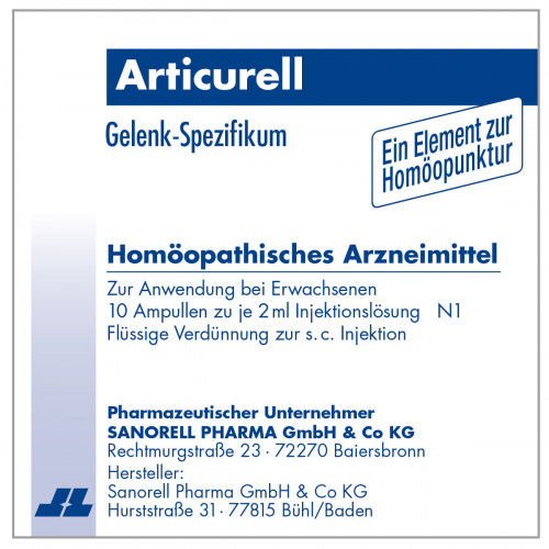 Articurell, 10X2 ML, Sanorell Pharma GmbH & Co. KG