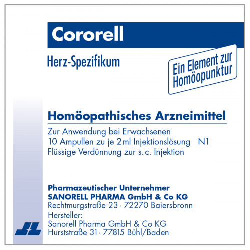 Cororell, 10X2 ML, sanorell pharma GmbH & Co KG