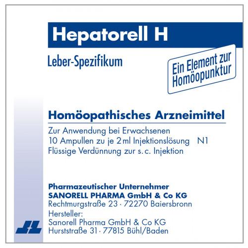 Hepatorell H, 10X2 ML, sanorell pharma GmbH & Co KG