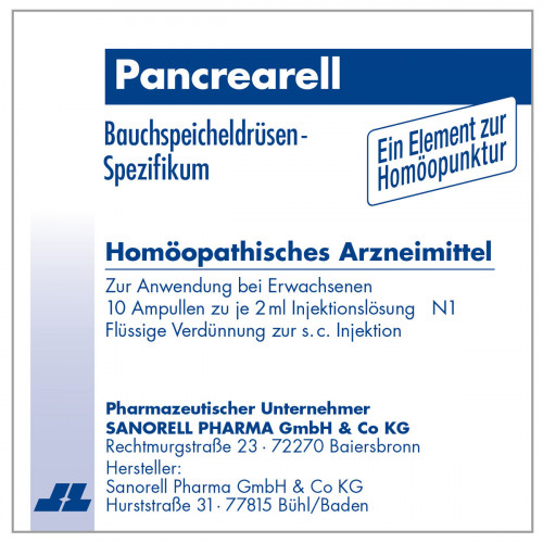 Pancrearell, 10X2 ML, Sanorell Pharma GmbH & Co. KG
