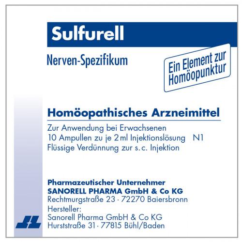 Sulfurell, 10X2 ML, sanorell pharma GmbH & Co KG