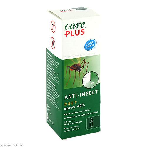 Care Plus Deet-Anti-Insect Spray 40%, 100 ML, Tropenzorg B.V.