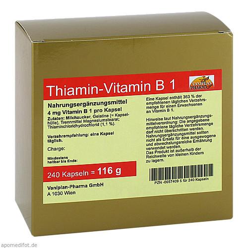 Thiamin Kapseln-Vitamin B1, 240 ST, Fbk-Pharma GmbH
