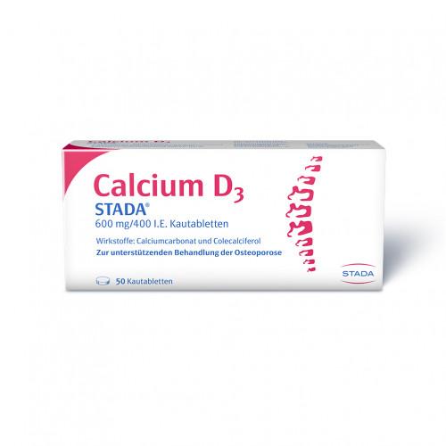 Calcium D3 STADA 600mg/ 400 I.E. Kautabletten, 50 ST, STADA GmbH