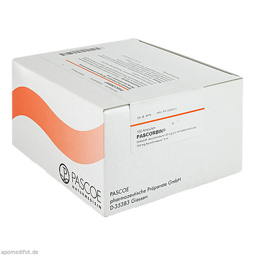 PASCORBIN (750mg Ascorbinsäure/5ml), 100X5 ML, Pascoe Pharmazeutische Präparate GmbH