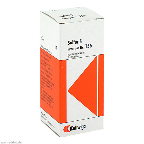 Synergon Kompl Sulfur S Nr. 156, 50 ML, Kattwiga Arzneimittel GmbH