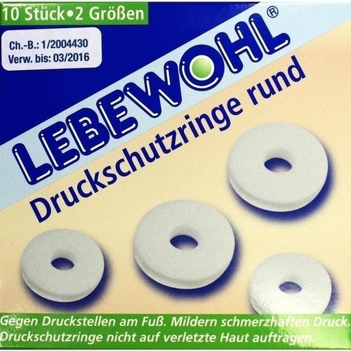 LEBEWOHL DRUCKSCH RINGE RU, 10 ST, Lebewohl-Fabrik GmbH & Co. KG