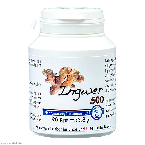 Ingwer 500, 90 ST, Pharma Peter GmbH