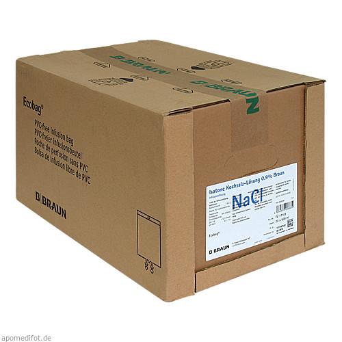 NaCl 0.9% Braun Ecobag, 20X500 ML, B. Braun Melsungen AG