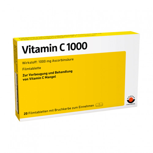 VITAMIN C 1000, 20 ST, Wörwag Pharma GmbH & Co. KG