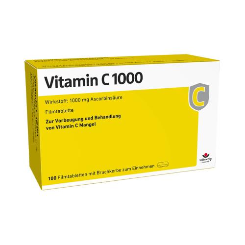 VITAMIN C 1000, 100 ST, Wörwag Pharma GmbH & Co. KG