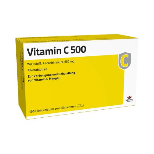 VITAMIN C 500, 100 ST, Wörwag Pharma GmbH & Co. KG