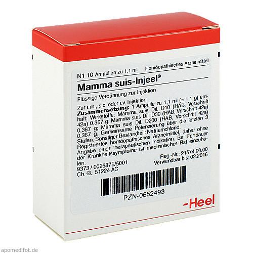MAMMA SUIS INJ ORG, 10 ST, Biologische Heilmittel Heel GmbH