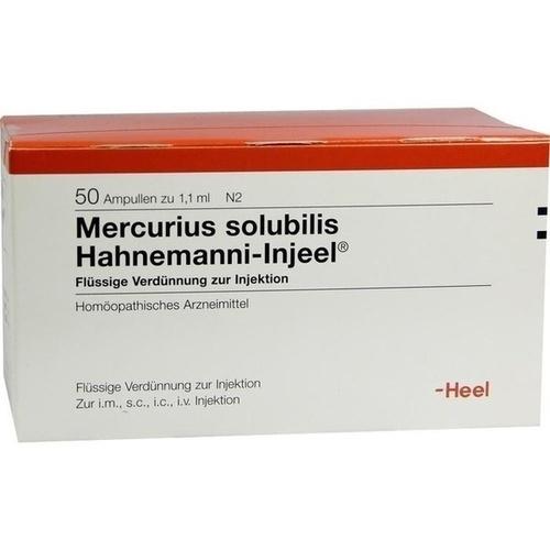 MERCURIUS SOLUBILIS INJEEL Hahnemanni Ampullen, 50 ST, Biologische Heilmittel Heel GmbH