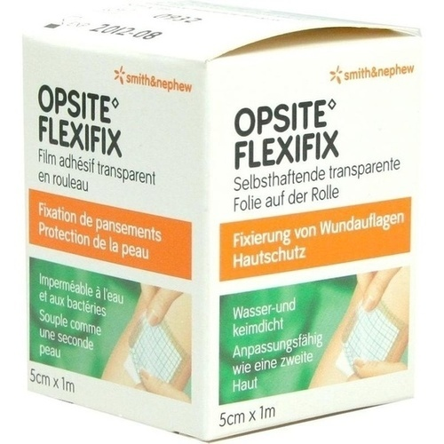 OPSITE FLEXIFIX PU Folie 5cmx1m unsteril Rolle, 1 ST, Smith & Nephew GmbH