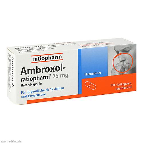 Ambroxol-ratiopharm 75mg Hustenlöser, 100 ST, ratiopharm GmbH