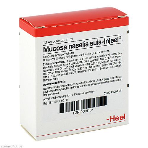 MUCOSA NAS SUIS INJ ORG, 10 ST, Biologische Heilmittel Heel GmbH