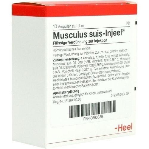 MUSCULUS SUIS INJ ORG, 10 ST, Biologische Heilmittel Heel GmbH