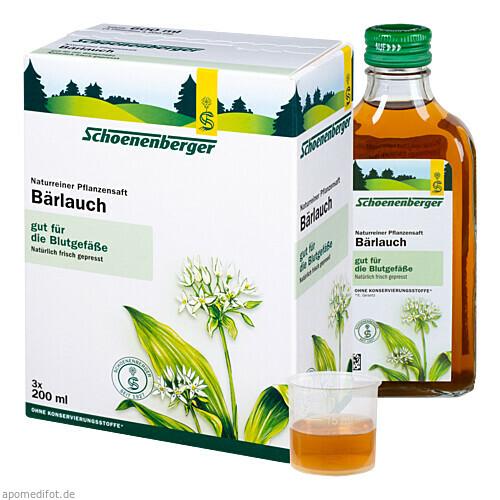 BAERLAUCH SCHOENENBERGER HEILPFLANZENSÄFTE, 3X200 ML, Salus Pharma GmbH