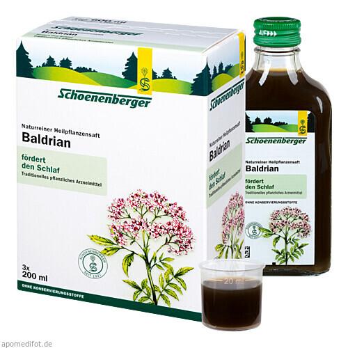 BALDRIAN SCHOENENBERGER HEILPFLANZENSÄFTE, 3X200 ML, Salus Pharma GmbH