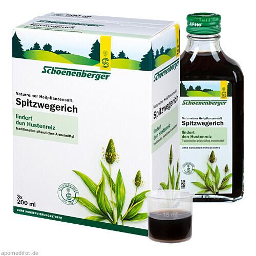 SPITZWEGERICH SCHOENENBERGER HEILPFLANZENSÄFTE, 3X200 ML, Salus Pharma GmbH