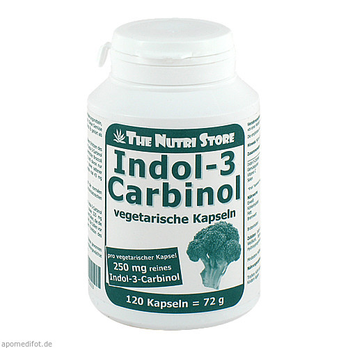 Indol-3 Carbinol 250mg vegetarische Kapseln, 120 ST, Hirundo Products