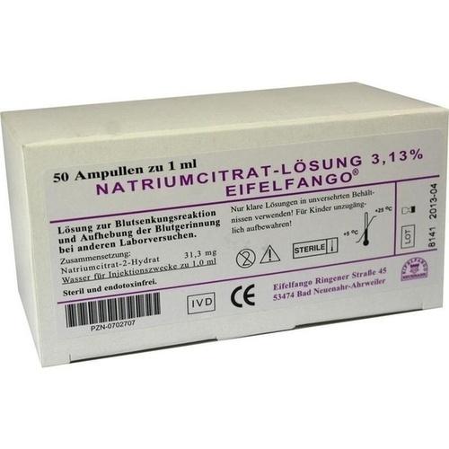 NATRIUM CITRICUM 3.13%, 50X1 ML, Eifelfango GmbH & Co. KG