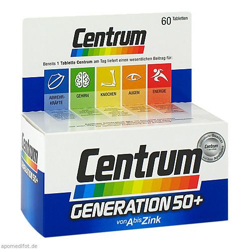 Centrum Generation 50+ A-Zink + FloraGlo Lutein, 60 ST, Pfizer Consumer Healthcare GmbH