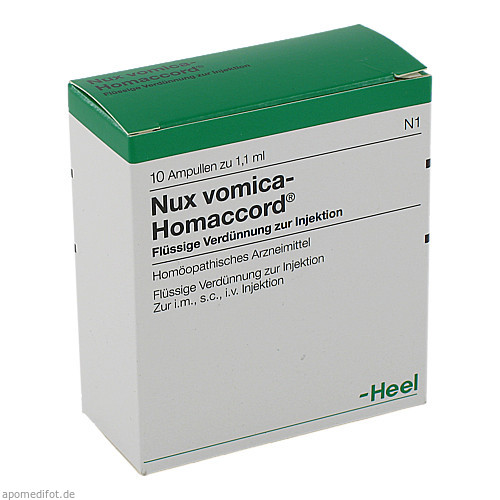 NUX VOMICA HOMACCORD, 10 ST, Biologische Heilmittel Heel GmbH