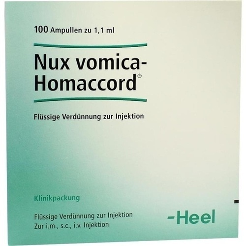 NUX VOMICA HOMACCORD, 100 ST, Biologische Heilmittel Heel GmbH