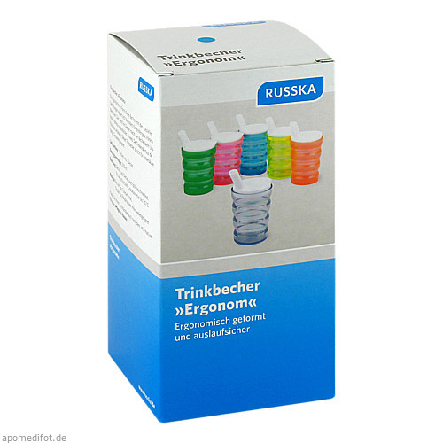 Trinkbecher Ergonom blau, 1 ST, RUSSKA LUDWIG BERTRAM GMBH