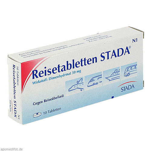 REISETABLETTEN STADA, 10 ST, STADA GmbH