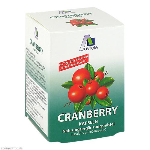 Cranberry Kapseln hochdosiert 400mg, 100 ST, Avitale GmbH