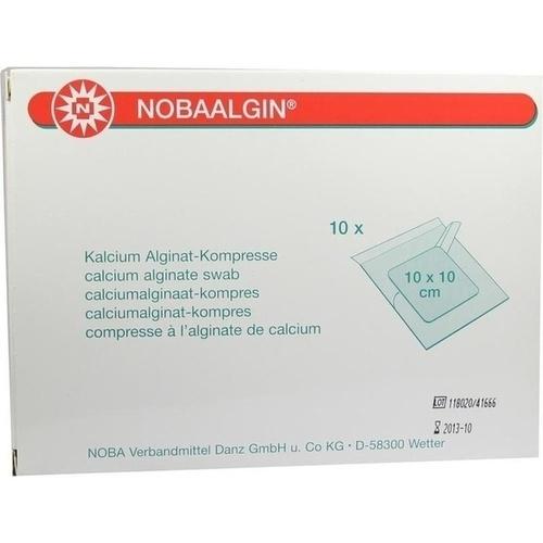 NOBAALGIN 10x10cm steril, 10 ST, Nobamed Paul Danz AG